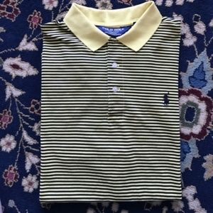 Polo Golf Striped Men's Moisture Management Pima C